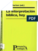 Barton, John - La Interpretacion Biblica Hoy