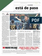 Matías Suárez en el suplemento PODIO del diario La Mañana de Córdoba