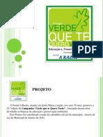 Projeto Verde Comercial Corsan 2012  redação