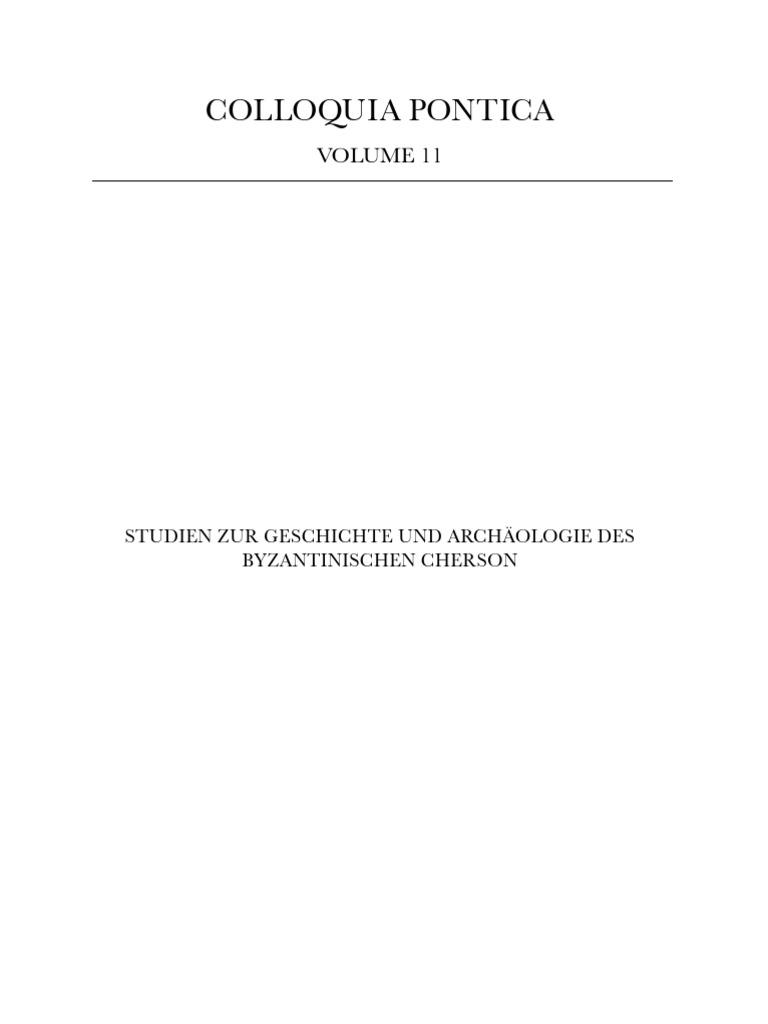 Romancuk - Studien zur Geschichte und Archäologie des Byzantinischen ...