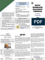 Church Newsletter - 10 June 2012