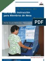 Cartila de Miembro de Mesa de Voto Electrónico Presencial