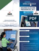 Díptico de Voto Electrónico Presencial