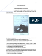 TEST COMPRENSION DE LECTURA - CONFIGURACIÓN DEL SENTIDO GLOBAL DEL TEXTO