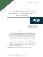 Programacion Matematica Al Fixture Del Campeonato Chileno