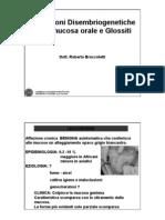 Alterazioni Disembriogenetiche Della Mucosa Orale e Glossite