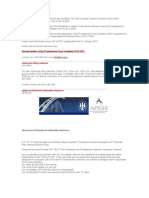 Annual Update of the Professional Fees Guideline 2011