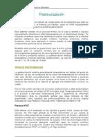 Pasteurización y métodos no convencionales de conservación