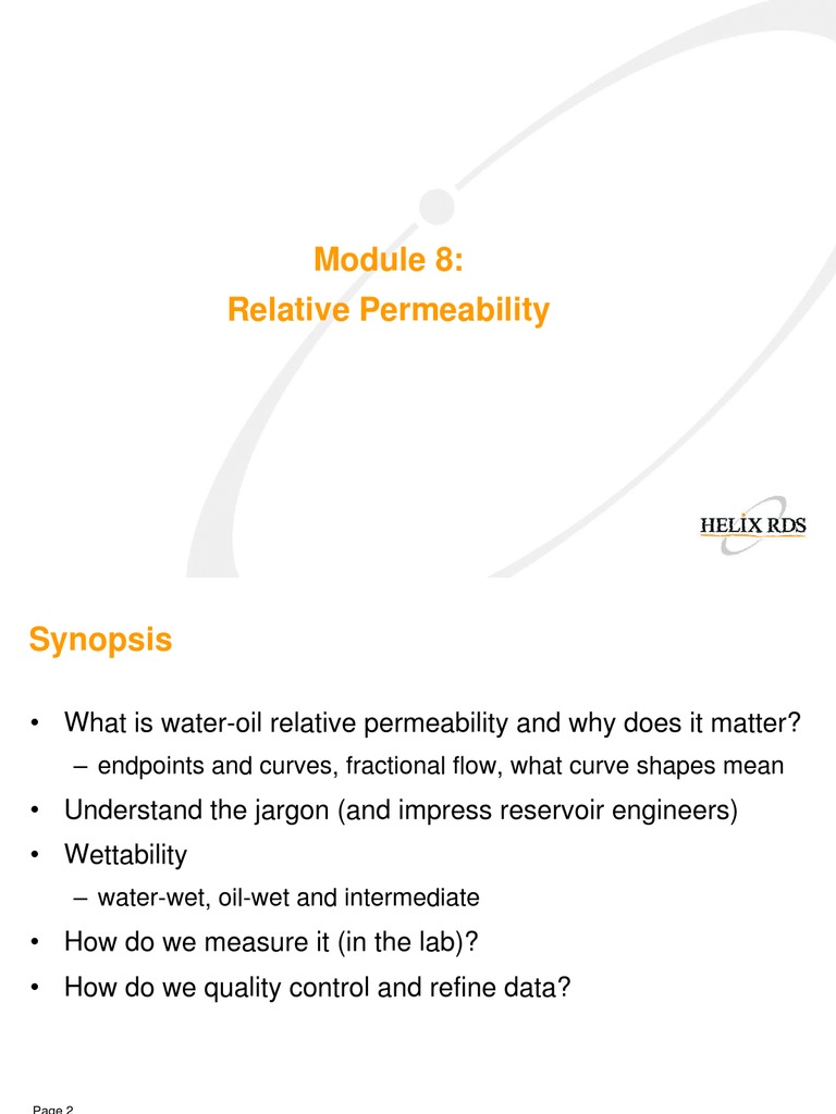 how to find relative permeability