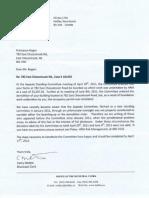 HRM letter Rescinding Demolition
