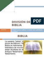 09 Divisin de La Biblia