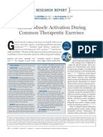 Gluteal Muscle Activation During Common Therapeutic Exercises