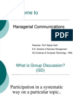Managerial Communication  Session 16-17 Group Diss