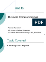 Managerial Communication Session- Short Reports