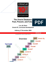 Oracle Past, Present, And Future