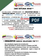 ++IUTJAA  BECAS 2012++ REQUISITOS PARA *SOLICITUD DE BECAS Y RENOVACIONES 2012*