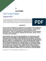 Top 10 Solutions KONICA MINOLTA