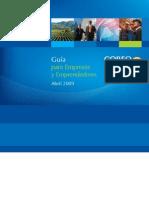 Guia CORFO 2009 Para Empresas y Emprendedores