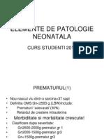 Elemente de Patologie Neonatala - fundeni