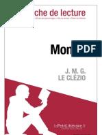 Le Clézio, J.M.G. - Mondo (fiche de lecture)