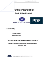 Internship Report on Bank Alfalh
