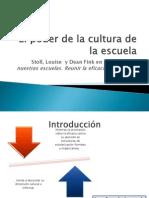 El Poder de La Cultura de La Escuela