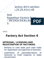 Rajasthan Factory Rules and Factories Act