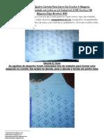 40) Apostila Cartela Numero Quatro Para Carro de Croche a Maquina
