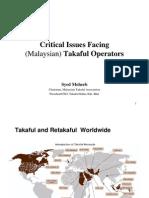 1.1.1 SMoheeb. Critical Issues Facing Malaysian Takaful Operators