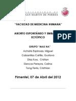 ABORTO ESPONTÁNEO Y EMBARAZO ECTÓPICO2