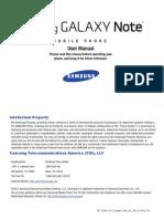 ATT i717 Galaxy Note English User Manual LA1 F3