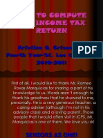 How to Compute the Income Tax Return