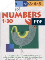 Kumon-3-4-5 Years My Book of Number 1-30
