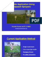 Herbicide Application Using Knapsack-Virender Kumar and R. K. Malik