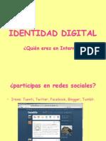 Identidad Digital( Claudia, Irene)