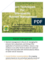 Modern Techniques for Site-Specific Nutrient Management - Dr. Varinderpal Singh