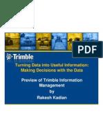 Preview of Trimble Information Management - Rakesh Kadian