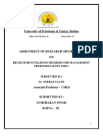 Assignment of Research Methodology by Gursharan Singh