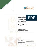 Variabilité des pluies fortes à marseille - LebloisRamos - 2004