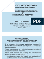 Measuring Development Effects of Agricultural Research - Prof. L. K. Vaswani