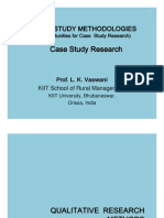 Case Study Methodologies - Case Study Research - Prof. L. K. Vaswani