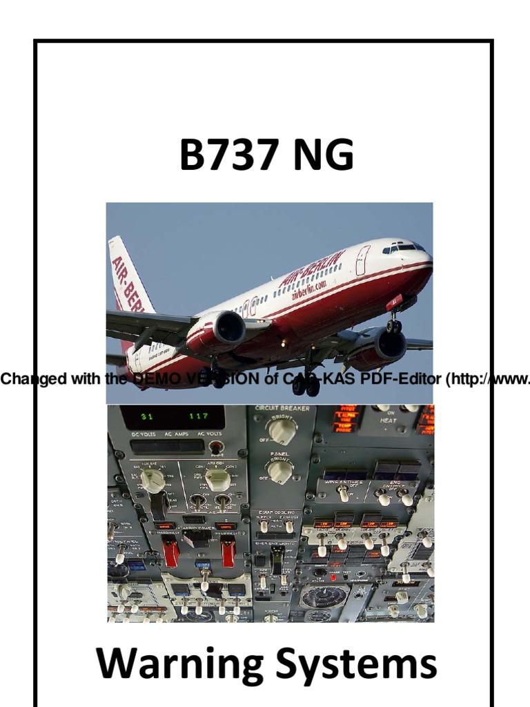 b737ng warning systems2 stall fluid mechanics transponder rh scribd com