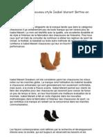 La mode sneakers Isabel Marant et Son maintenace