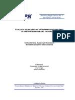 Contoh Evaluasi Program Gizi