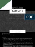 English Lesson 7