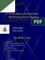 Performance Mesurement Monitoring and Evaluation1 Umer & Fakhar