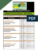 Listado Productos 2012 - EnERO