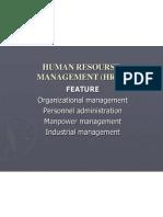 Human Resourse Management (Hrm)