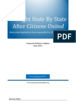 Sunlight State by State Report by the Corporate Reform Coalition