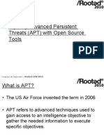 Fighting Advanced Persistent Threats APT With Open Source Tools